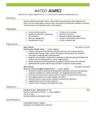 common resume format for freshers 9 resume format applying for teacher job basic appication teaching
