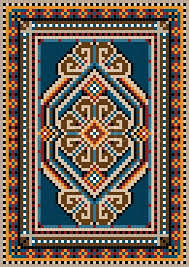 oriental design the ancient oriental design with a frame for carpet stock vector