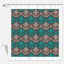 Blue Damask Shower Curtain Teal Damask Shower Curtain For Shower Curtains Blue Green