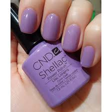 cnd creative nail design shellac power polish lilac longing