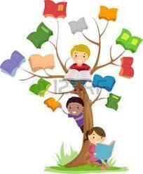 imagenes de archivo libres de derechos descargar niño leyendo un libro de dibujos animados ilustración