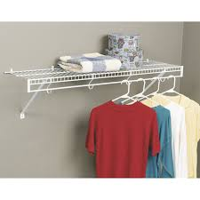 Install Heavy Duty Shelf Brackets In Concrete The Homy Design - effortless installation wall mounted wire shelving home design