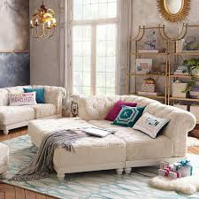Pb Teen Bedrooms Cushy Roll Arm Sectional Collection Pbteen