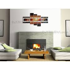 Abstract Home Decor Huge Hand Painted Abstract Painting Canvas Wall Art Framed 5