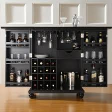 Black Bar Cabinet Black Bars Bar Sets You Ll Wayfair