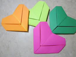 Origami With Letter Size Paper - how to fold a letter into a shape valentines day