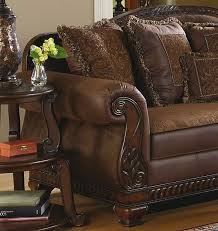 traditional sofas with wood trim traditional living room fabric and wood trim curved sofa brady