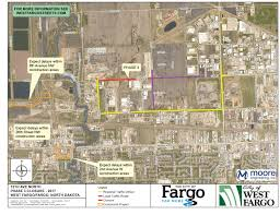 Map North Dakota Road Construction Details