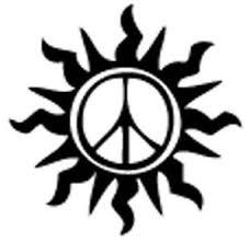 sun peace sign vinyl decal sticker truck wall ebay