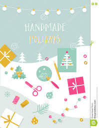handmade holidays card tools crafts and christmas gifts stock