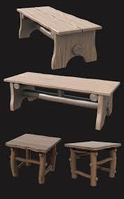 Wooden Furnitures Set Wooden Furniture Set Dr 3d Models 3d Game Models Obj Fbx Dinoraul