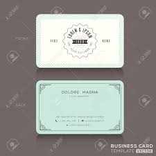 retro hipster business card design template royalty free cliparts