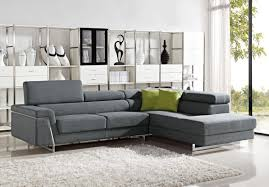 Darby Home Furniture Modern Grey Fabric Sectional Sofa Set