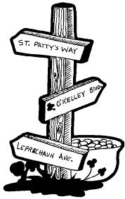 irish saint patricks street sign pot gold coloring