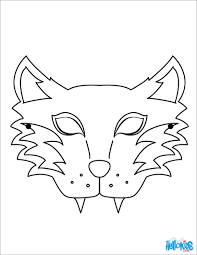 tiger mask coloring pages hellokids com