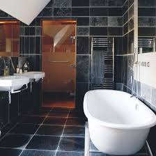 Bathroom With Shower Black And White Bathroom Designs Ideal Home