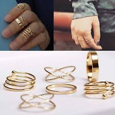top finger rings images Fashion stylist 6pcs ring set simple beauty midi knuckle top of jpg
