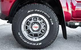 toyota tacoma road wheels 2012 toyota tacoma trd tx baja series test motor trend