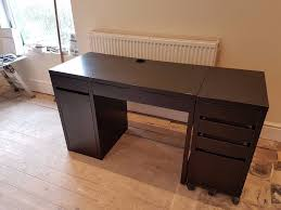Ikea Micke Corner Desk by Excellent Condition Ikea Micke Black Brown Office Computer Desk