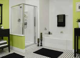 modern bathroom gray with pewter beveled rectangle framed