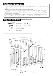 Brookline Convertible Crib Toddler Bed Conversion Required Hardware Westwood Design