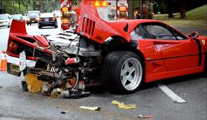 laferrari crash ferrari f40 crash in vancouver is sad to see performancedrive