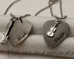 Engraved Guitar Pick Necklace Guitar Pick Etsy