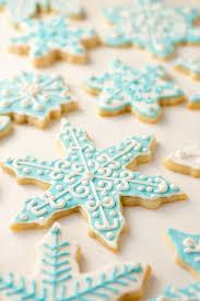 snowflake sugar cookies iced sugar cookies cooking