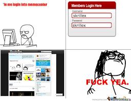 Meme Center Login - skrillex login by skrillex2 meme center