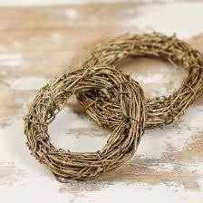 miniature gold twig wreaths grapevine floral supplies
