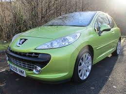 peugeot green used peugeot 207 yellow for sale motors co uk