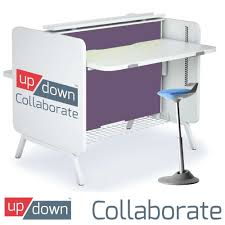Stand Up Sit Down Desks by Collaborate Double Desk Sit Stand Com