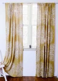 moroccan curtains yellow tiles mustard geometric window curtains