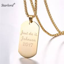 dog tag jewelry engraved starlord custom dog tag necklace engraved id customized jewelry