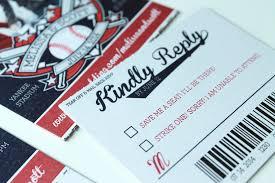 baseball wedding invitations themed wedding rsvp cards