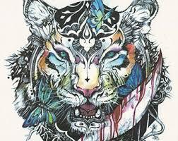 tiger etsy