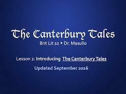 chaucer lesson 2 introducing the canterbury tales youtube