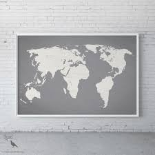 Large World Map Poster 45 Photo Of World Map Wall Art For Kids