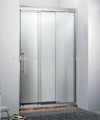 3 panel stainless steel sliding shower door architecture