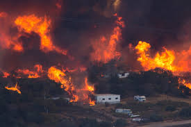 Wildfire California 2016 by Blue Cut Fire In Southern California Brings Destruction And