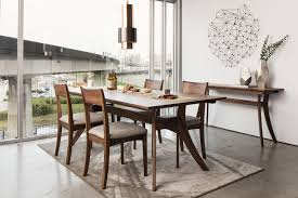florence rectangular dining table large walnut products moe u0027s usa