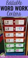 word work centers for the year fully editable with storage