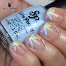 rainbow french tips the crafty ninja