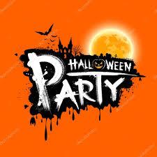 happy halloween party text design u2014 stock vector sarunyu foto