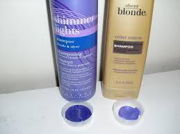 clairol shimmer lights before and after living and loving makeup purple tinted color refreshing shoos