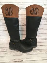 womens boots in s sizes monogrammed boots s personalized quilted boots