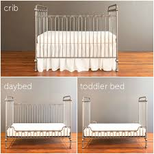 How To Convert Crib To Daybed Baby Crib Pewter