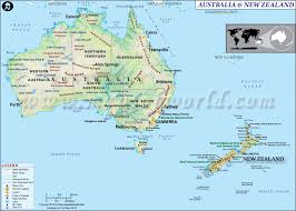 aussie map of australia and new zealand