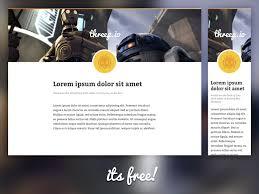 responsive sketch app blog layout sketch freebie download free