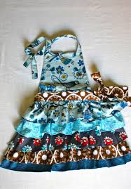 mini frilly apron for little girls hmh designs